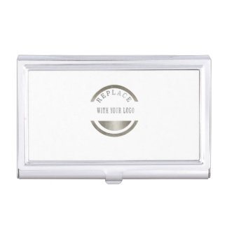 ADD Your LOGO PHOTO BRAND Professional Elegant Business Card Holders