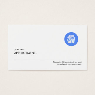 Add Your Logo Professional Appointment Card