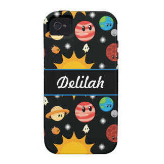 Add Your Name Space Pattern Vibe iPhone 4 Case