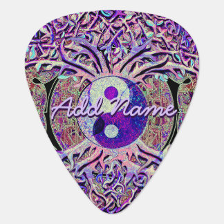 Add Your Name to Yin Yang Tree Guitar Pick