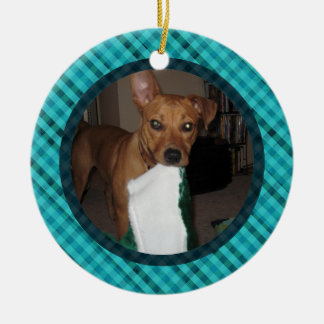 Add Your Own Image - Plaid Style Custom Ornament