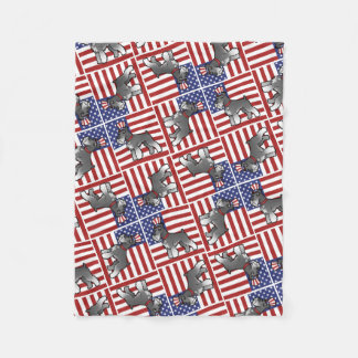 Add Your Own Pet and Flag Fleece Blanket