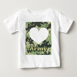Add Your Own Photo Army Heart Baby T-Shirt