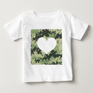 Add Your Own Photo Camo Heart T-shirt