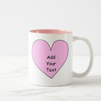 Add your own text heart mug
