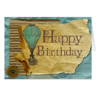 Add Your Own Text: Hot Air Balloon Birthday Card