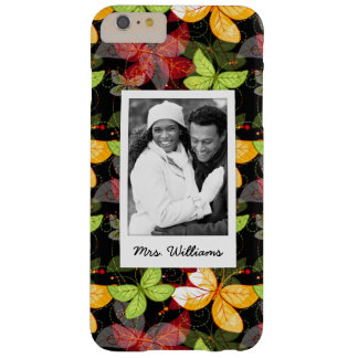 Add Your Photo | Dark Autumn Pattern Barely There iPhone 6 Plus Case