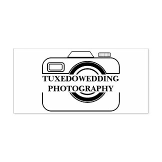 Add Your Wedding Photography Business Camera Logo Self-inking Stamp