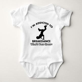 addicted to breakdance baby bodysuit