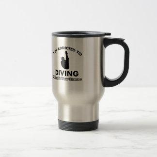 addicted to diving travel mug