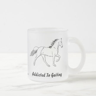 Addicted To Gaiting Frosted Glass Mug
