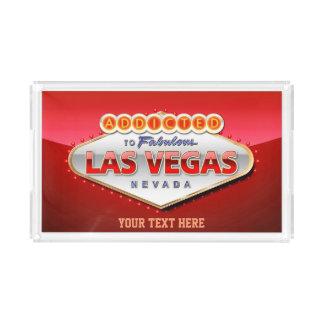 Addicted to Las Vegas, Nevada Funny Sign Acrylic Tray