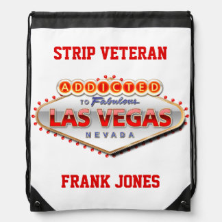 Addicted to Las Vegas, Nevada Funny Sign Drawstring Bag