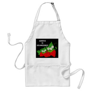 Addicted to strawberries fruit lovers apron