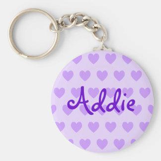 Addie in Purple Key Ring