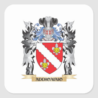 Addioaiaio Coat of Arms - Family Crest Square Sticker