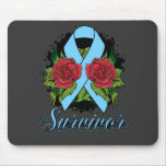 Addison's Disease Survivor Rose Grunge Tattoo Mouse Pad