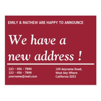 Address Change   Change Of Address   New Address Postcard