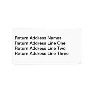 Address label for RSVP card envelopes