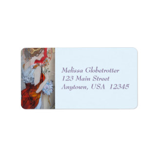 Address Labels--Victorian Lady Red Label