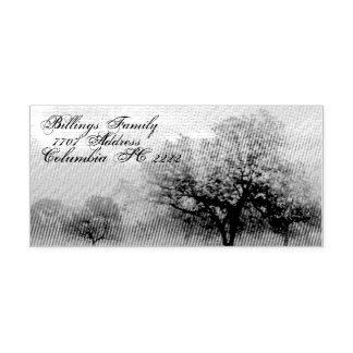 Address Self Ink Rubber Stamp w/Texas trees