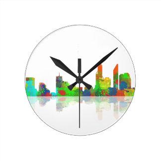 Adelaide SA Skyline Round Clock