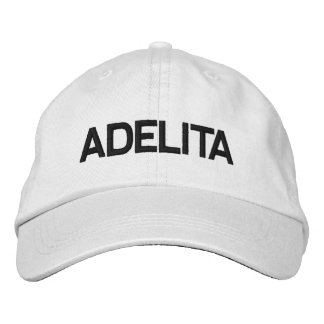 ADELITA HAT DRCHOS.COM CUSTOMIZABLE PRODUCTS EMBROIDERED BASEBALL CAP