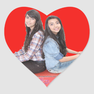 Adhesive Heart Lorraine and Rafaela Heart Sticker
