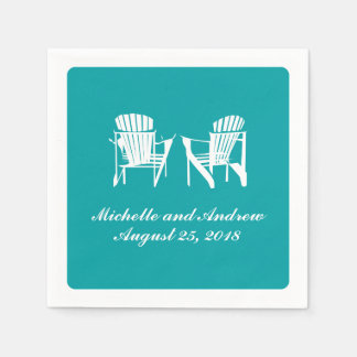 Adirondack Chairs   Wedding Disposable Serviettes