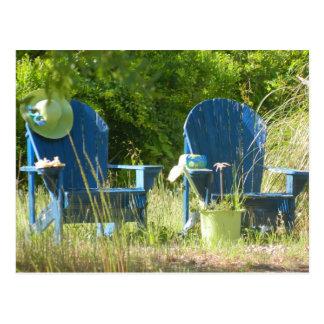 Adirondack Lawn Chairs Postcard