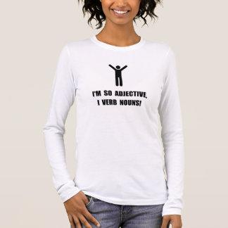 Adjective Verb Nouns Long Sleeve T-Shirt