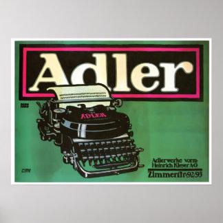Adler Typewriters Vintage Poster