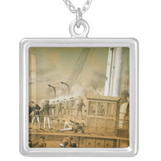 Admiral Amedee Anatole Courbet Silver Plated Necklace