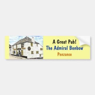'Admiral Benbow' Bumper Sticker Car Bumper Sticker