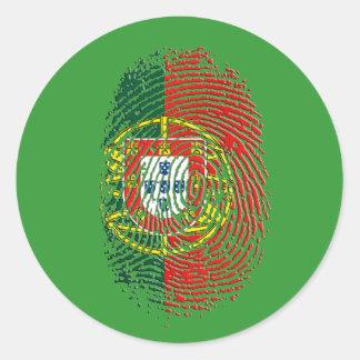 ADN Português (DNA) - Tugas Camisas e Presentes Classic Round Sticker