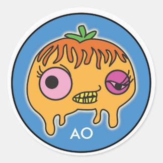 Adolescent Oranges Stickers, Glossy Round Sticker