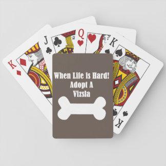Adopt A Vizsla Playing Cards