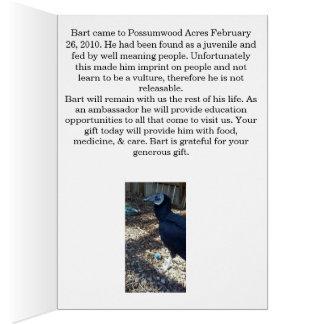 Adopt Bart the Black Vulture Greeting Card