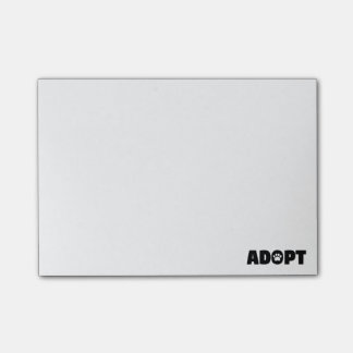 Adopt Rescue Paw Print Post-it Notes