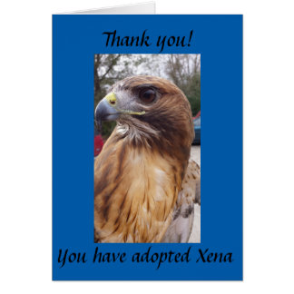Adopt Xena the Red-Tailed Hawk Greeting Card