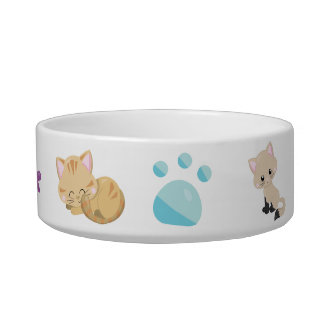 Adorable Assorted Kittens and Paw Print and Fish Bowl