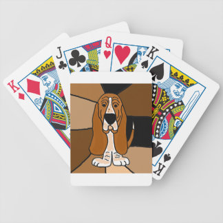 Adorable Basset Hound Dog Art Abstract Bicycle Playing Cards
