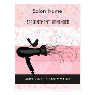 Adorable! Beauty Salon Appointment Reminder Postcard