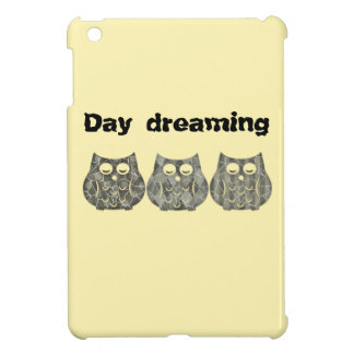Adorable cheerful cute funny owls iPad mini covers