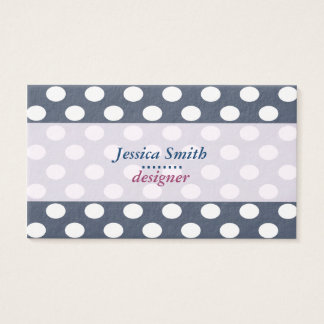 Adorable cheerful cute polka dots business card