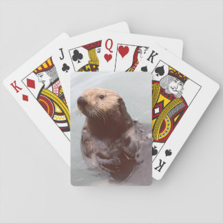 Adorable Cute Alaska Sea Otter Photo Poker Cards