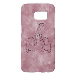Adorable cute elephants in love