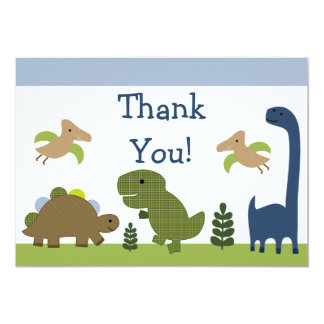 Adorable Dino/Dinosaurs Baby Thank You Cards