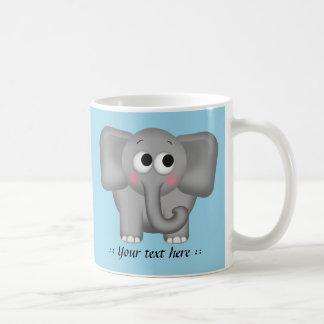 Adorable Elephant - Blue Personalised Mug