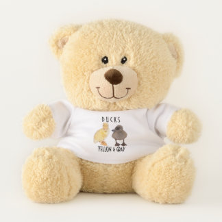 Adorable Gray and Yellow Duckling Photography Teddy Bear